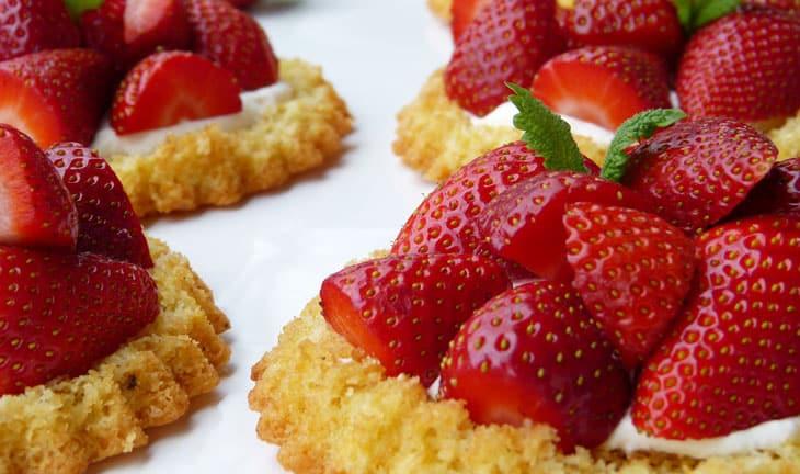 Tartelettes aux fraises sans gluten, sans lactose