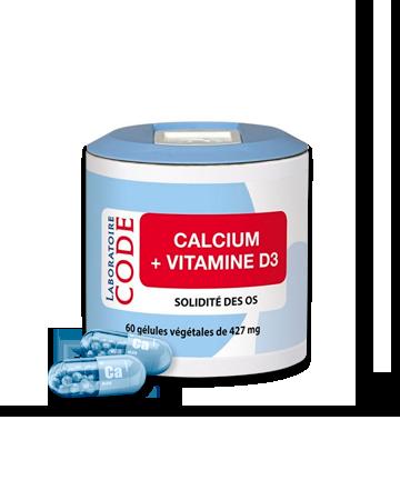 CALCIUM Vitamine D3 - Bonne santé osseuse et dentaire.