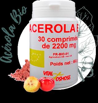 Acerola Bio 1000, Idéal pour la vitalité.